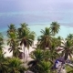 Aerial Drone Bird's Eye Footage of Caribbean Island with Palms and Huts,coral Reef Lagoon , San Blas - VideoHive Item for Sale