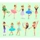 Vector Ballerina Girl Professional Ballet Dancer