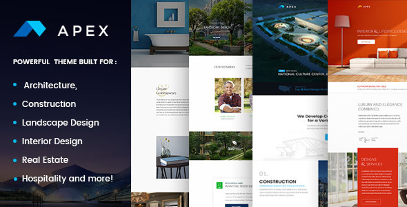 Apex - Construction, Builders, Designers & Architects WordPress Theme - Business Corporate