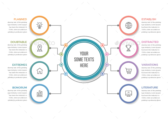 Circle Infographics with 08 Steps - Infographics