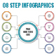 Circle Infographics with 08 Steps - GraphicRiver Item for Sale