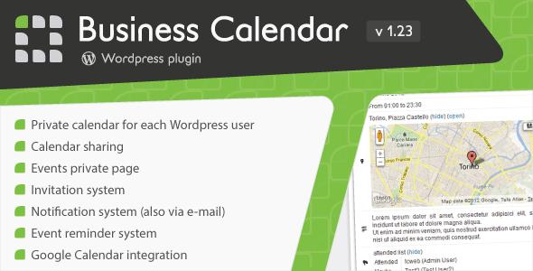 Business Calendar – WordPress Internal Calendar