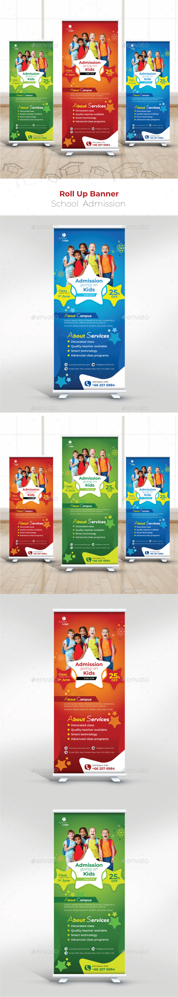 School Roll Up Banner - Signage Print Templates
