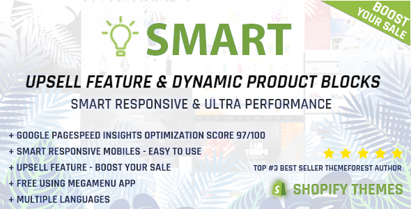 Image of Smart - Multipurpose Shopify section - Upsell feature - Pagespeed Insights Optimization 97/100