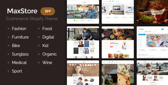 Shopify Theme - Maxstore Sections Ready Template, drag and drop