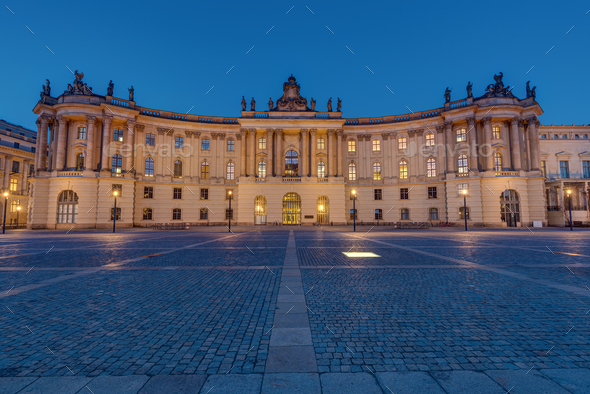 Old historic building at the Unter den Linden boulevard in Berlin - Stock Photo - Images