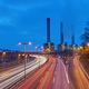 Power station and highway at dawn  - PhotoDune Item for Sale