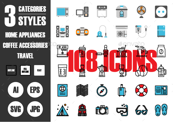 108 Pixel Perfect Icons Vol.2 - Icons