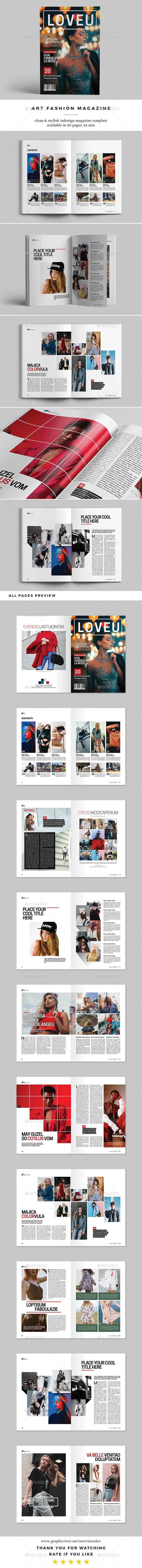 Art Fashion Magazine - Magazines Print Templates