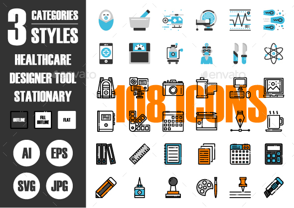 108 Pixel Perfect Icons Vol.3 - Icons