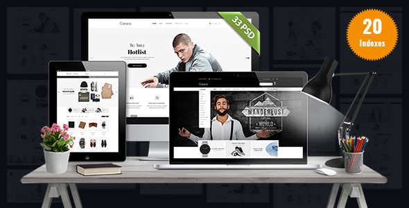 Cariana - Minimalist Ecommerce PSD Template - Fashion Retail