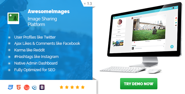 Awesome Images : Image Sharing Platform - Image CMS (Supports GIF) - CodeCanyon Item for Sale