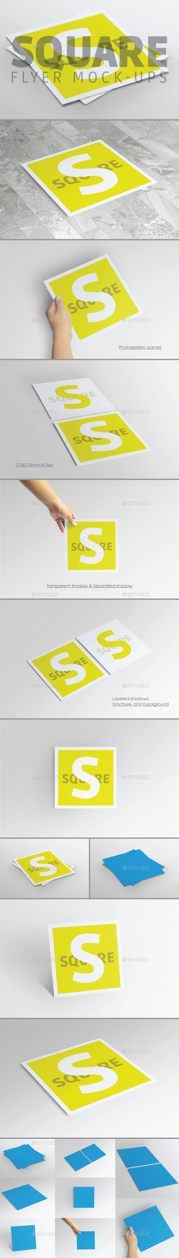 Square Flyer Mock-Up - Brochures Print