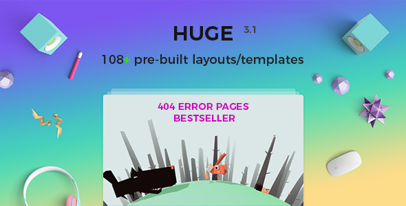 Error Pages 404 and Coming Soon pages Multipurpose - HUGE