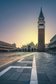Venice landmark, Piazza San Marco with Campanile and Basilica ch - PhotoDune Item for Sale