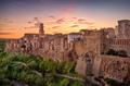 Tuscany, Pitigliano medieval village panorama sunset. Italy - PhotoDune Item for Sale