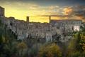 Tuscany, Sorano medieval village panorama sunset. Italy - PhotoDune Item for Sale