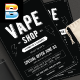 Vape Shop Flyer Menu - GraphicRiver Item for Sale