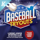 Baseball Tryouts Flyer Templates - GraphicRiver Item for Sale