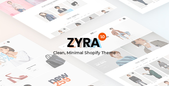 Zyra - The Clean, Minimal Shopify Theme
