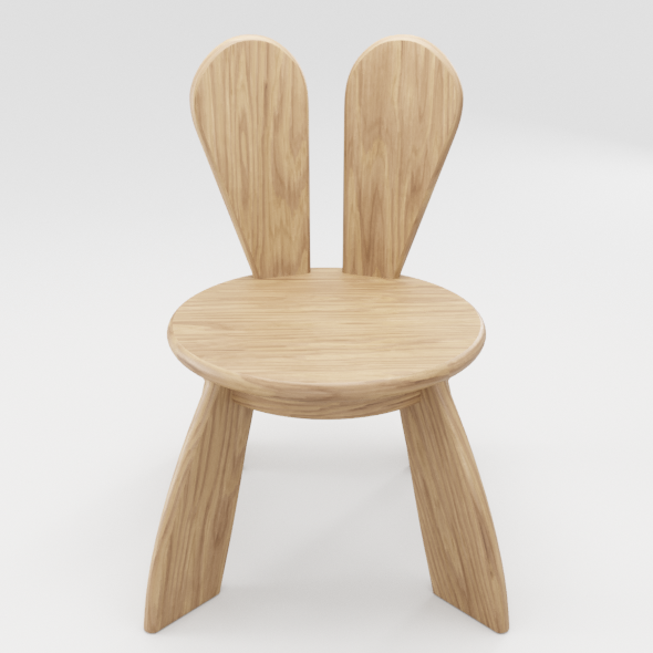 Kid Wooden Minimalistic Chair - 3DOcean Item for Sale