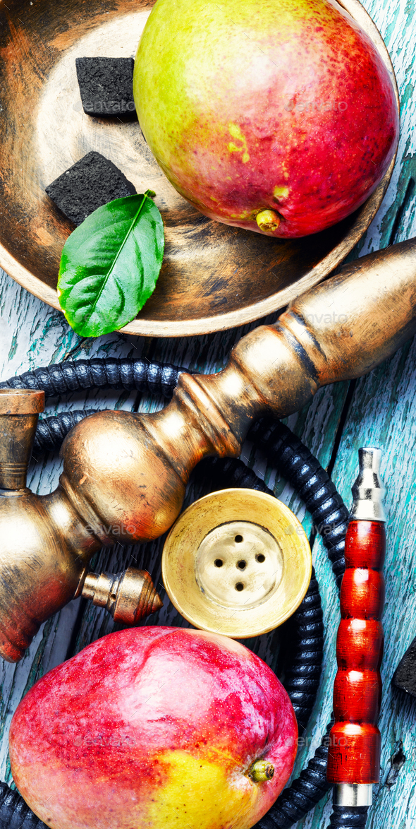 hookah with mango for relax - Stock Photo - Images
