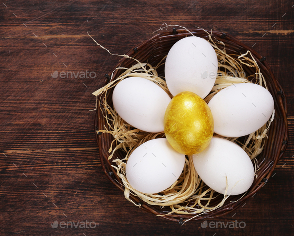 Golden Egg - Stock Photo - Images