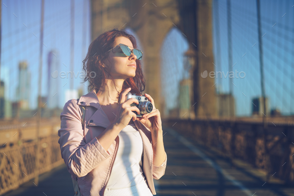 Smiling photographer - Stock Photo - Images