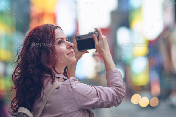 Smiling tourist - Stock Photo - Images