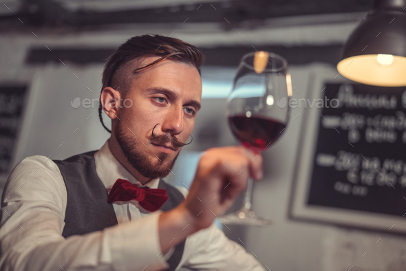Young waiter - Stock Photo - Images