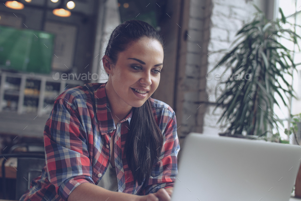 Smiling woman - Stock Photo - Images