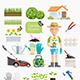 Garden Elements Set - GraphicRiver Item for Sale