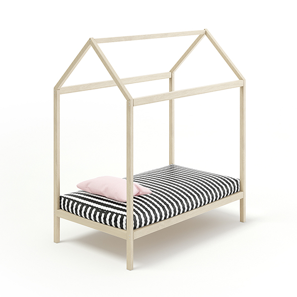 House Shape Bed - 3DOcean Item for Sale
