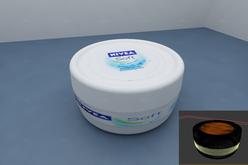 realistic nivea soft plastic box - 3DOcean Item for Sale
