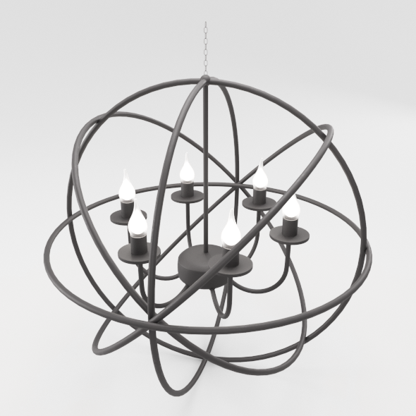 Modern Orbit Chandelier - 3DOcean Item for Sale