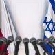 Flags of Poland and Israel at International Press Conference - VideoHive Item for Sale