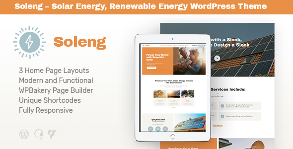 Soleng | Solar Energy Company WordPress Theme - Retail WordPress