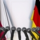 Flags of Poland and Germany at International Press Conference - VideoHive Item for Sale