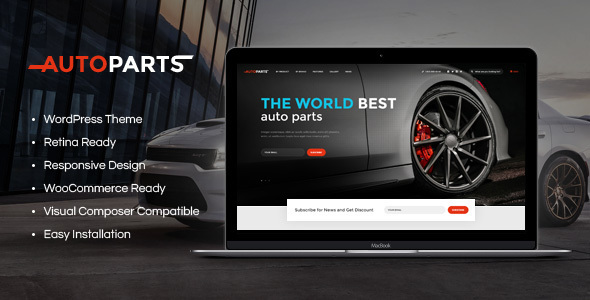 Car Parts Store & Auto Services - Retail WordPress