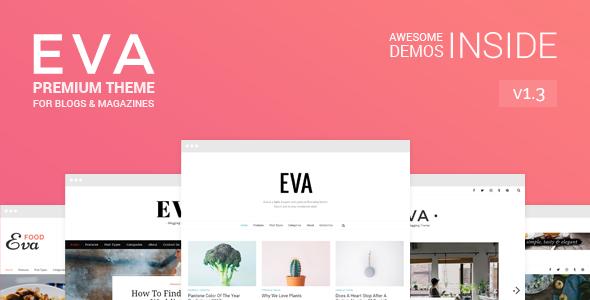 Eva - Premium WordPress Blog & Magazine Theme - Personal Blog / Magazine