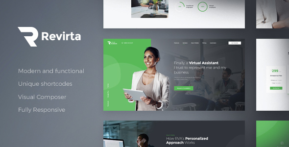 Revirta | Virtual Assistant WordPress Theme - Business Corporate
