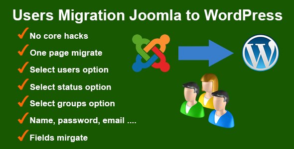 Users Migration Joomla to WordPress - CodeCanyon Item for Sale