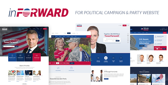 Image of inForward - Political Campaign and Party WordPress Theme