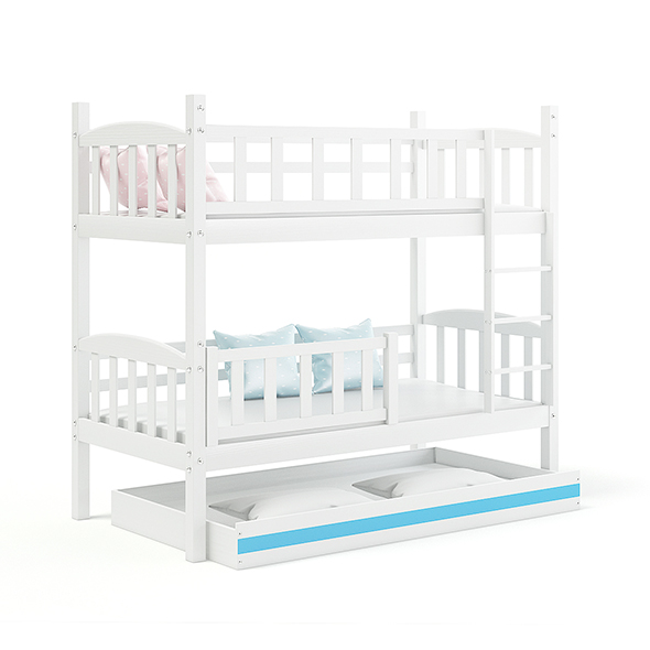 White Bunk Bed - 3DOcean Item for Sale