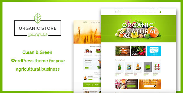 Organic Store | Organic Food & Eco Products WordPress Theme + RTL
