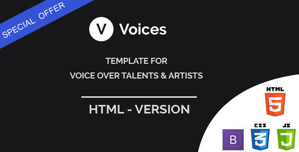 Voices – HTML Template for Voice Over Tallents
