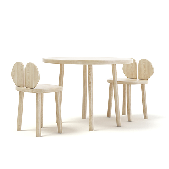 Children's Table and Chairs - 3DOcean Item for Sale