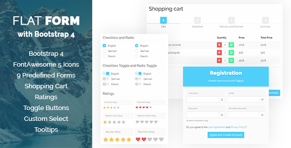 Flat Form with Bootstrap 4 - CodeCanyon Item for Sale