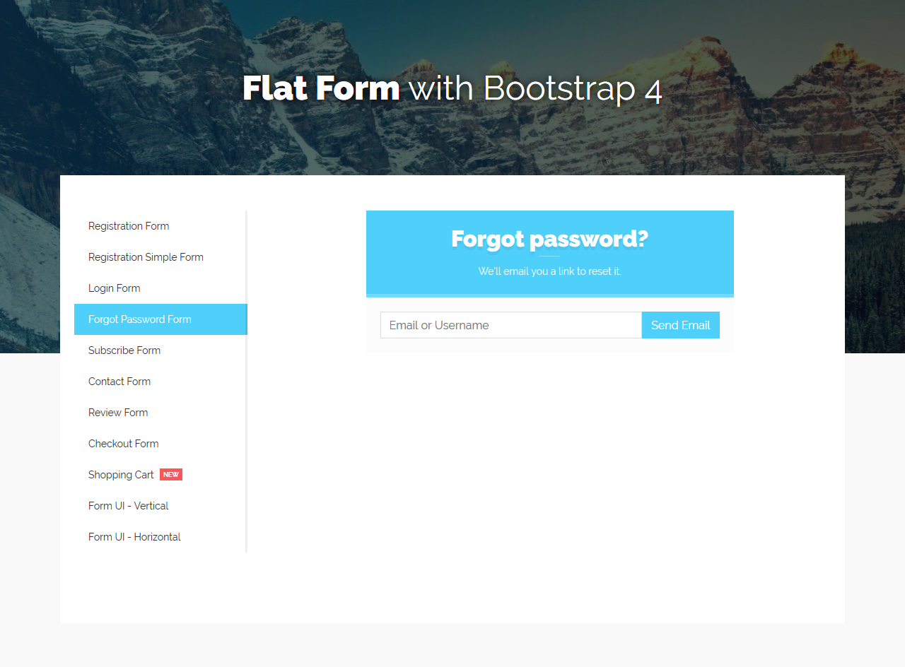 Flat form with bootstrap 4 by davidtovt codecanyon 4g falaconquin