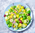 Lettuce salad with mango slices - PhotoDune Item for Sale